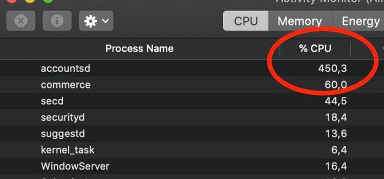 Accountsd: How to Fix High CPU Usage on Mac